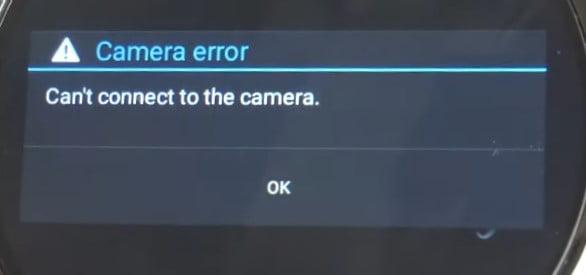 Kospet Prime 2 Camera Error